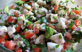 Севиче – перуанская закуска из рыбы