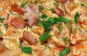 Гарнир из тыквы со сметаной к мясу