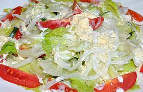 Салат Айсберг с сырной заправкой