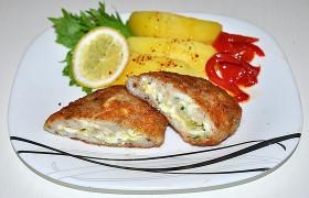 Котлеты из пангасиуса с яйцом и сыром