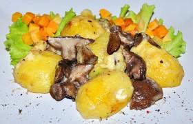 Запеченный картофель с грибами и сыром