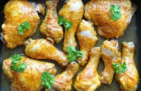 Пряные куриные окорочка в рукаве