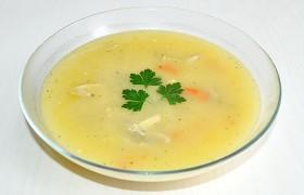 Куриный суп с колбасным сыром