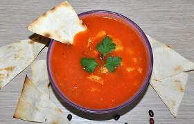 Мексиканский суп с тортильей