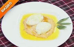 Яйца-пашот с шалфейным маслом