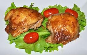 Куриные бедрышки, запеченные в маринаде