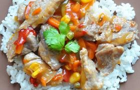 Свинина и мексиканская смесь, быстрый ужин