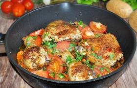 Окорочка с овощами по-средиземноморски