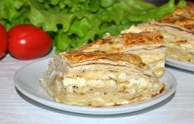 Сырный пирог с лавашем