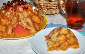 Торт из кукурузных палочек с кремом