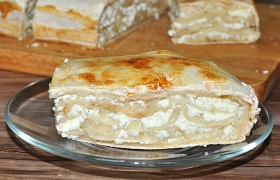 Пирог из лаваша с творогом сладкий