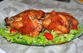 Крылья индейки, запеченные в маринаде