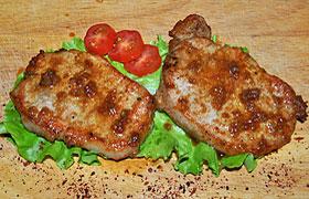Свинина в чесночно-медовом соусе