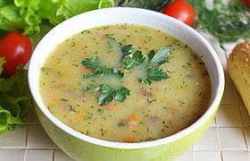 Картофельный крем-суп с тушенкой