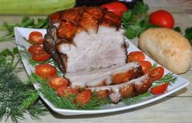 Свиная грудинка в пикантном маринаде