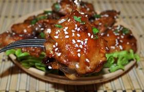 Куриные крылышки в соево-медовом соусе