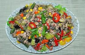 Тушеные с фаршем овощи