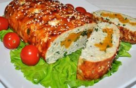 Куриный мясной хлеб с тыквой