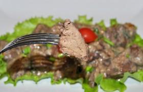 Печень индейки в сметанном соусе