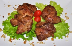 Куриная печень в соевом соусе