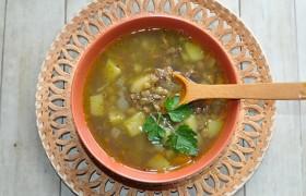 Суп с тушенкой и чечевицей