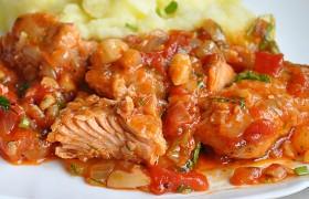 Рыба в томатно-миндальном соусе