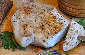 Свиная корейка, жаренная в пергаменте