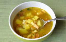 Быстрый суп с грудинкой