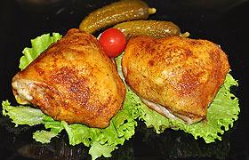 Куриные  бедрышки, запеченные в рукаве