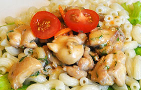 Курица с грибами в сырном соусе