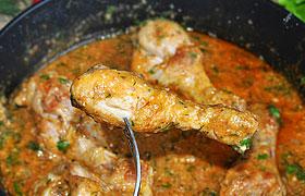 Курица в миндальном соусе