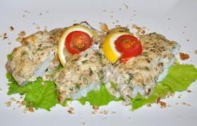 Филе трески под орехово-сырной корочкой