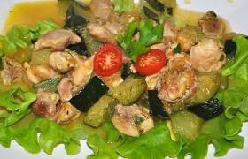 Рагу из курицы с кабачками