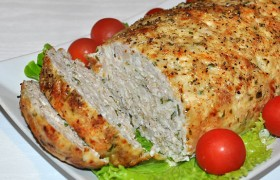 Мясной хлеб из куриного фарша