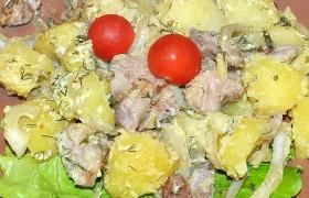 Свиная грудинка с картофелем в духовке