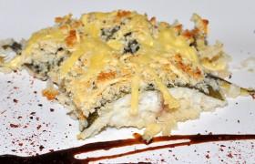 Запеченная рыба в хлебно-сырной корочке