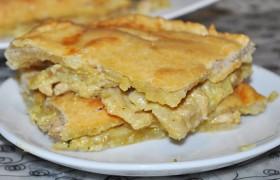 Пирог с начинкой из курицы