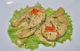 Рыба в сметанно-майонезном соусе